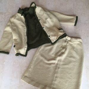 VTG Wool Skirt Suit